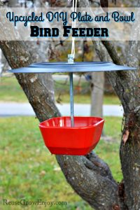 Upcycled DIY Plate and Bowl Bird Feeder