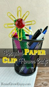 Upcycled Paper Clip Flower Craft
