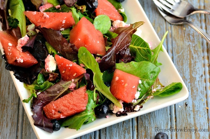 Watermelon Salad Recipe Wide