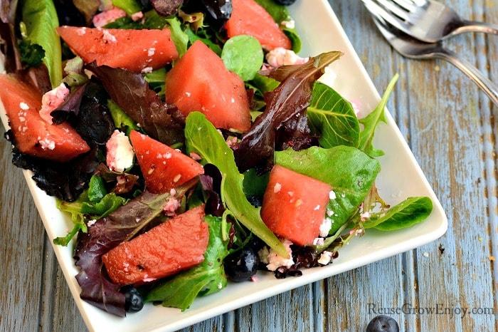 Watermelon Salad Recipe Wide