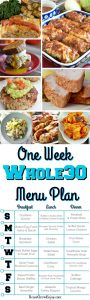 Whole30 Menu Plan For One Week
