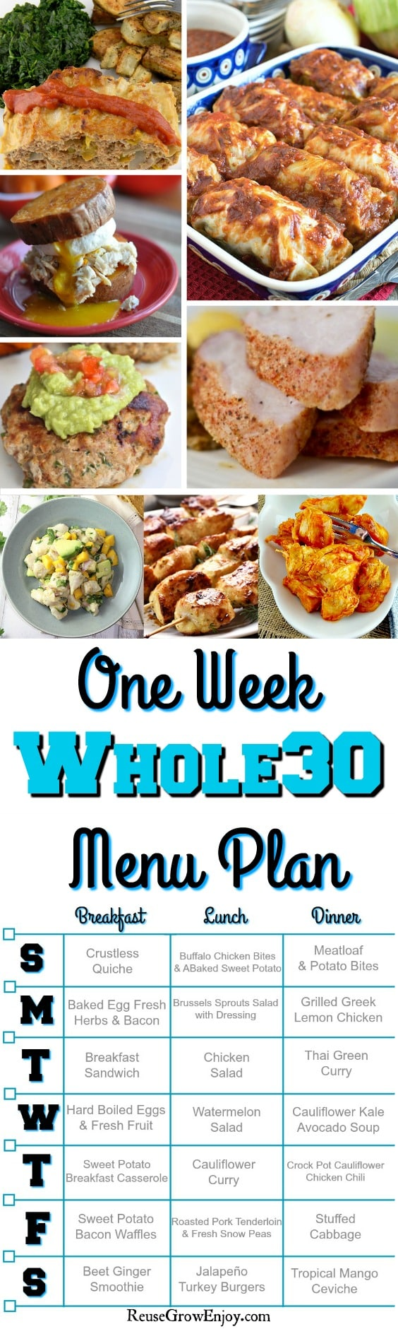 Whole30 Menu Plan For A Week