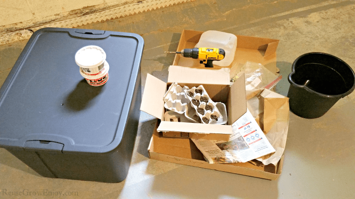 Worm Bin Supplies