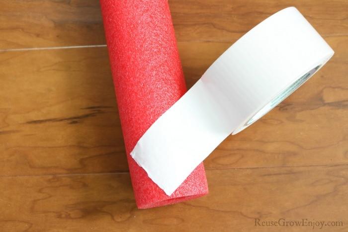 Wrap tape around noodle =