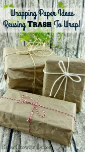 Wrapping Paper Ideas – Reusing Trash To Wrap Gifts