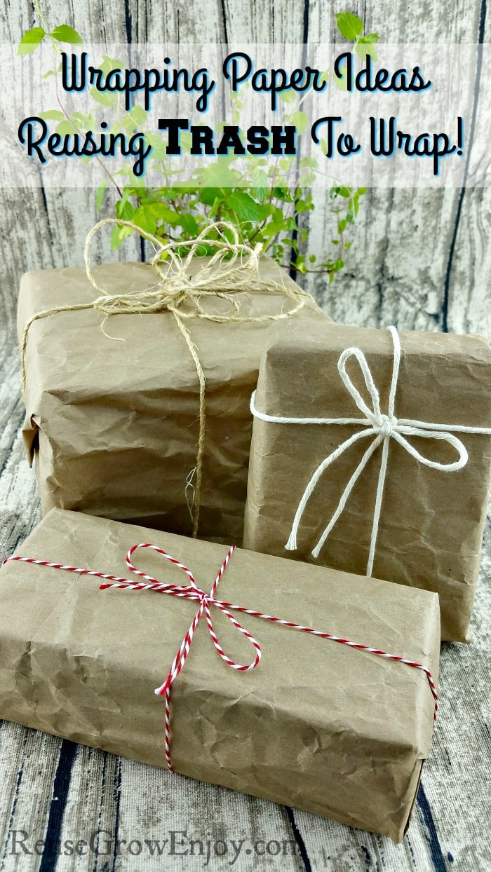 Wrapping Paper Ideas - Reusing Trash To Wrap Gifts