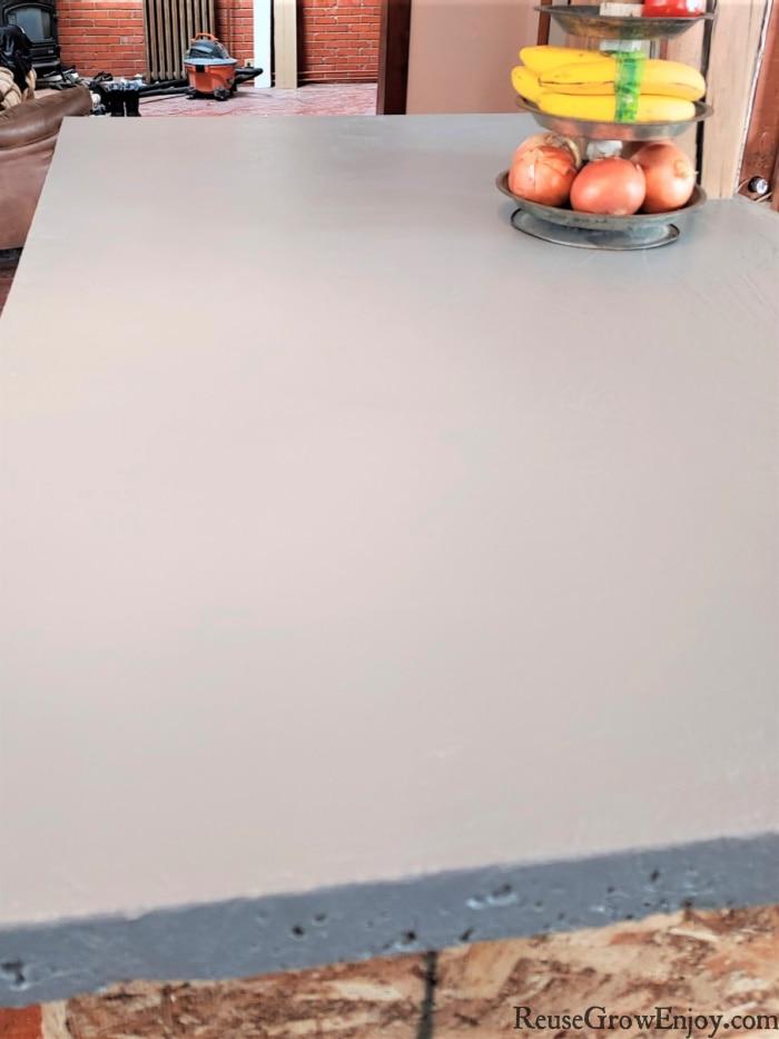 finished kitchenisland concrete top
