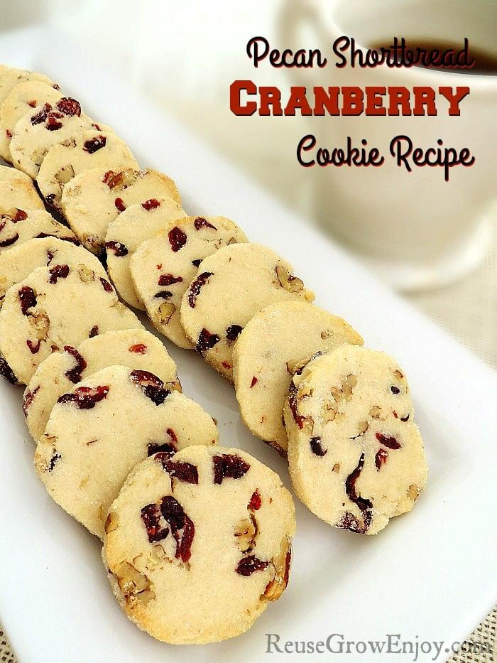 pecan shortbread Cranberry cookie recipe